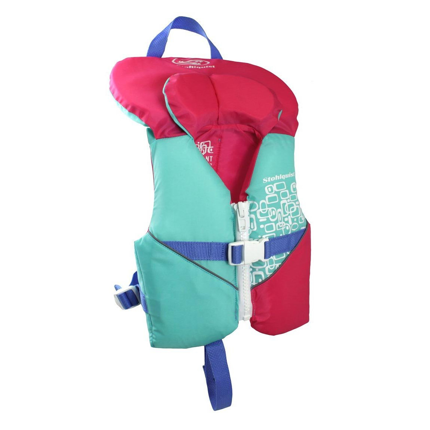 Infant PFD - Pink/Turquoise - Front | Western Canoeing & Kayaking
