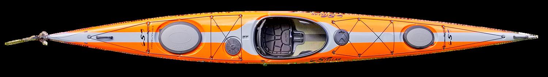 S18 EXP Touring - Top - Orange | Western Canoeing & Kayaking