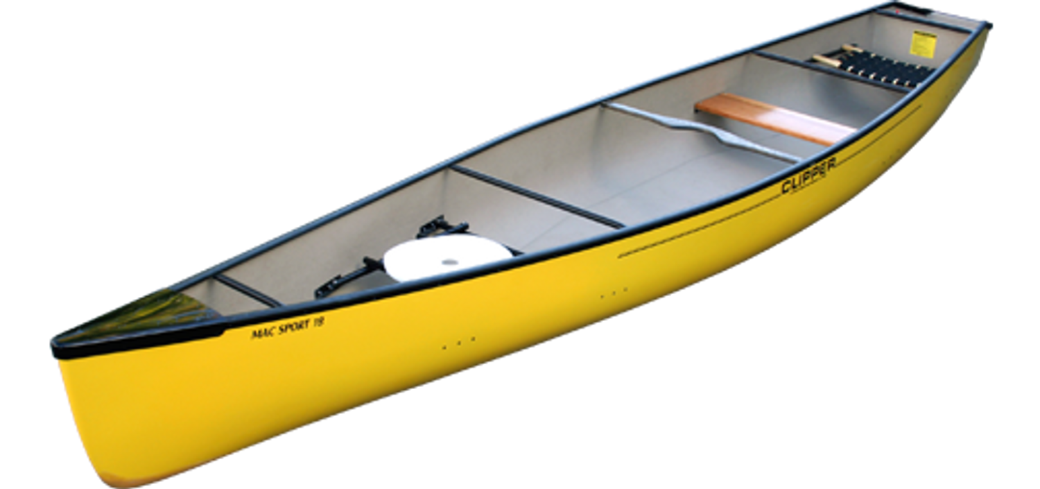 Mac Sport 18' Square-Stern by Clipper Canoes | Western