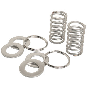 Oarlock Stainless Springs with Washers and Split Rings