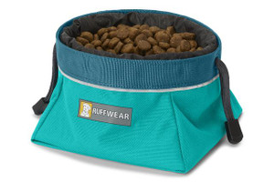 Ruffwear Dog Bowl - Quencher Cinch Top - Teal   *Food not included