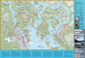 Discovery Islands & Desolation Sound Waterproof Map