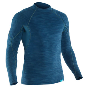 Men's Hydroskin Long Sleeve Shirt Moraccan Blue