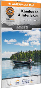Kamloops Interior Lakes BC Waterproof Map
