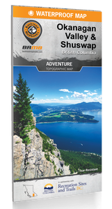 Okanagan Valley & Shuswap BC Waterproof Map