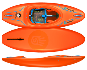 Soul Waterman Mini Monkey (Kids) - Light Sabre Orange | Western Canoe Kayak