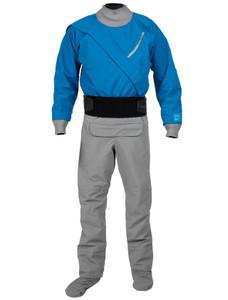 Men's Meridian Gore-Tex PRO Dry Suit w/Relief Zipper - Blue - Front | Western Canoeing & Kayaking