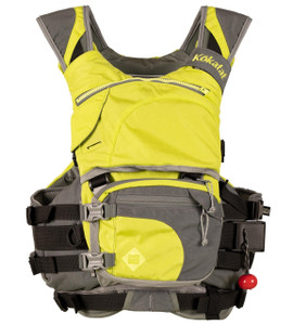 Maximus Centurion Rescue PFD - Mantis - Front with pouch attached | Western Canoeing & Kayaking