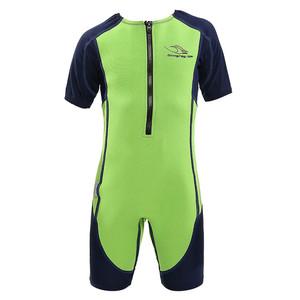 Stingray Toddler/Youth Wetsuit/Sunsuit - Green - Front | Western Canoe & Kayak