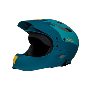 Sweet Rocker Full Face Helmet - Matte Aquamarine Metallic - Side | Western Canoeing & Kayaking