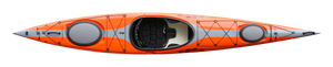 S14 Advantage Recreational with Rudder - Top - Orange - *Shown without Rudder | Western Canoeing & Kayaking