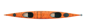 Unity Tandem Fiberglass - Mango/Smoke - Top   Western Canoeing & Kayaking