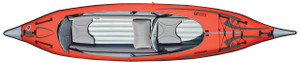 Advanced Frame Convertible Inflatable KayakTop View