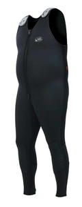 Grizzly wetsuit featuring front zip and adjustable shoulder straps.