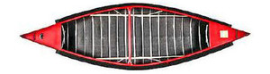 12' Pointed End Canoe by Sportspal Red Top View