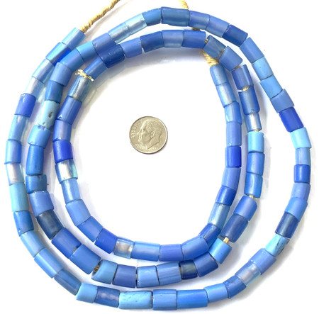 "Antique Venetian Blue Glass ""coli"" African Trade beads"
