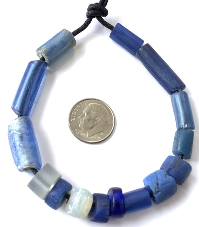 Mixed European Antique African Dogon Dutch glass trade beads