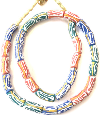 Made in Ghana Handmade mixed multi Recycled glass African trade beads