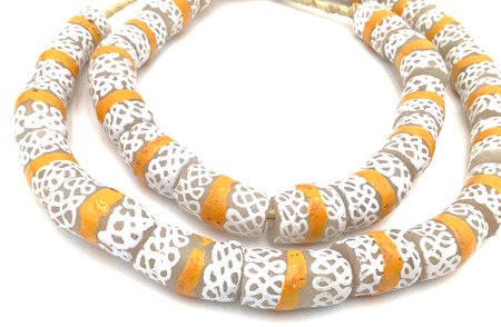 Made in Ghana Handmade matching Recycled glass African trade beads