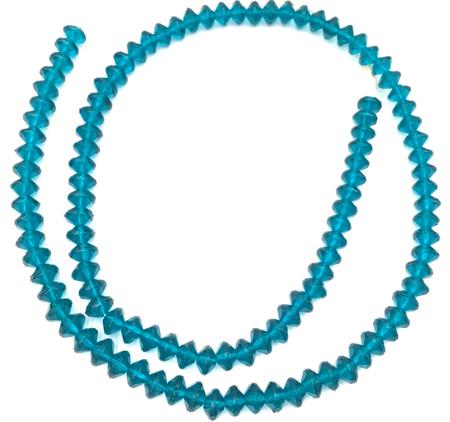 8mm European Bondi Blue Vaseline Czech Bohemian glass beads