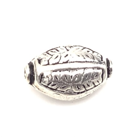 Authentic Oval Sterling Silver Spacer Bead
