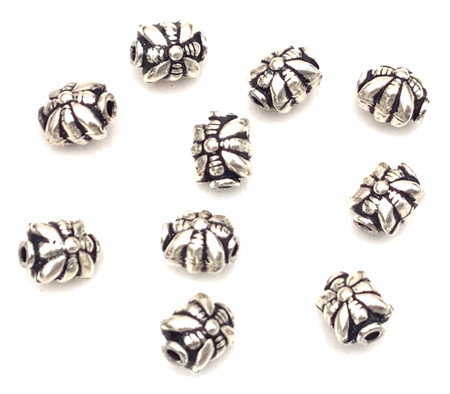 6 Authentic square Sterling Silver Spacer Beads