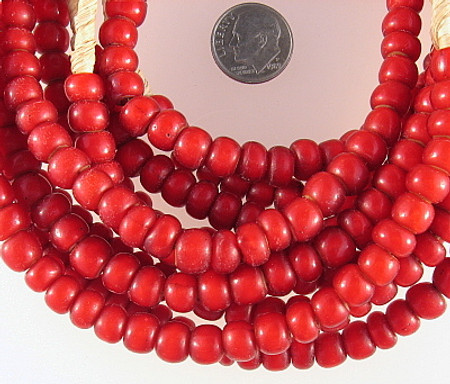 African White heart glass Trade Beads