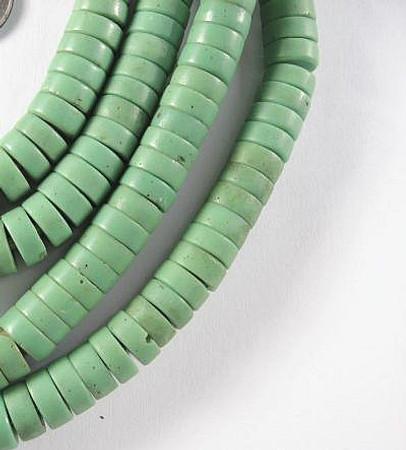 3 strand matched disk Czech Bohemian glass trade beads