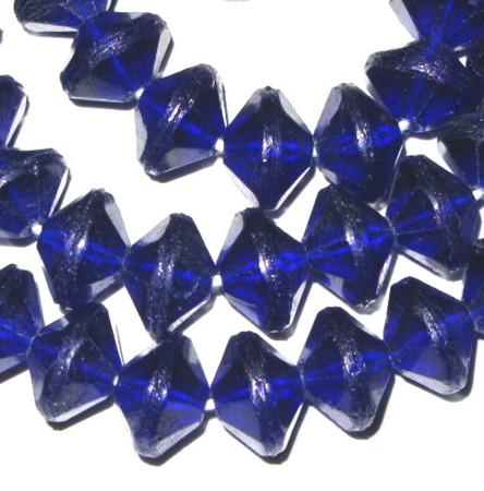 European vaseline Czech Bohemian cobalt blue glass beads