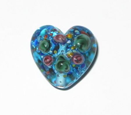 Czech handmade lamp glass heart pendant-2