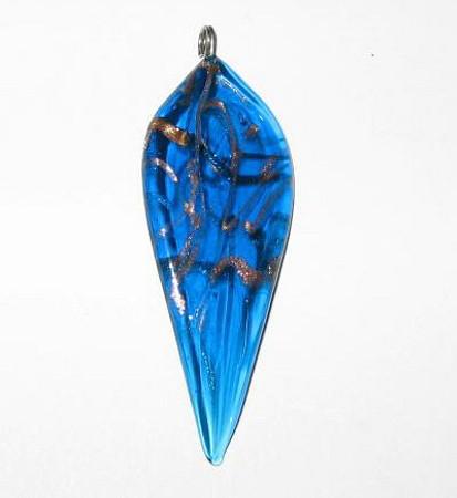 handmade Czech lamp glass bead pendant-3