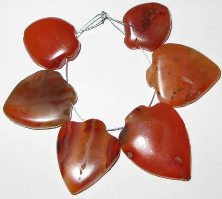 old Carnelian agate pendant African trade beads