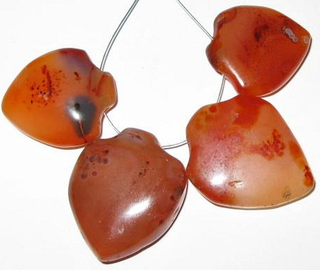 old Carnelian agate African pendant trade beads