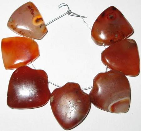 African strand Carnelian Agate trade beads