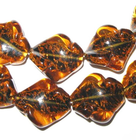 fine Czech handmade glass lamp bead