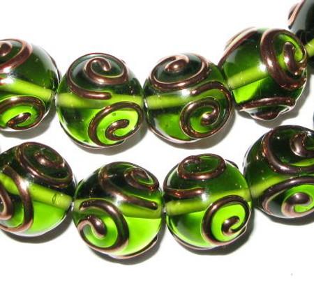 Fine Czech handmade glass Lampwork beads
