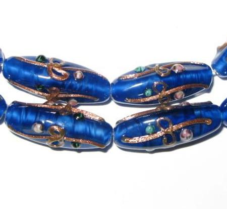Fine Czech Handmade Blue Glass Lampwork beads