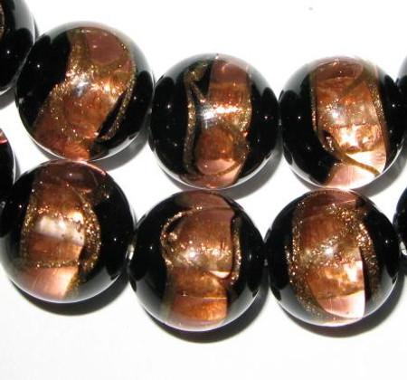 vintage Czech Bohemian aventurine glass beads