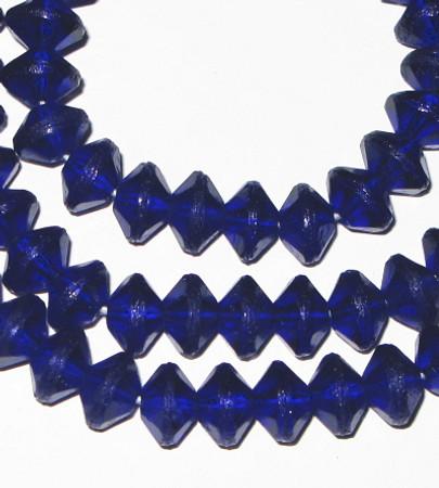 vaseline Czech Bohemian cobalt blue glass beads