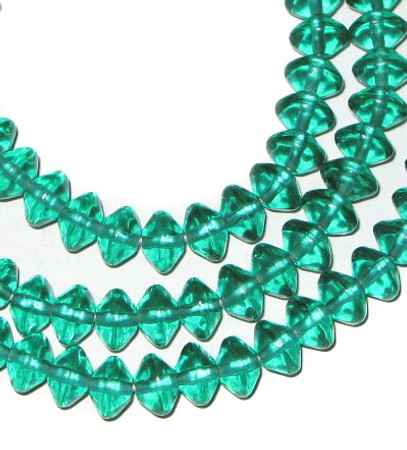 European vaseline Czech Bohemian green glass beads