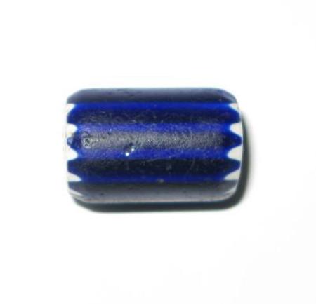 antique old Venetian 6 layer Chevron glass trade bead-5