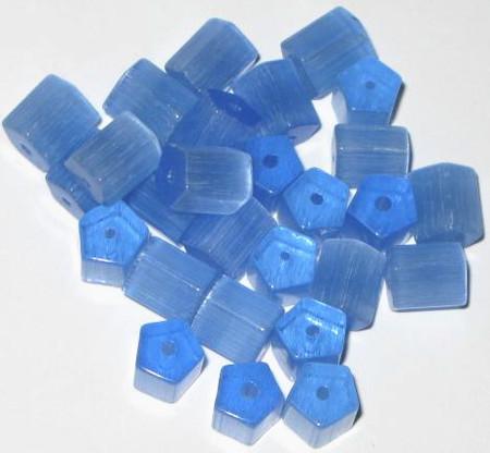 Lt Sapphire Czech Russian cut fire polished faceted Glass Beads