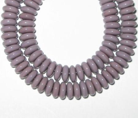 Lilac Czech disk Bohemian glass beads