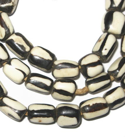 African crafted Kenya batik bone trade beads