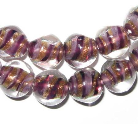 beautiful vintage Czech violet handmade lamp beads