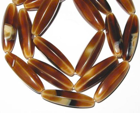 fine vintage Czech Bohemian multi brown glass beads