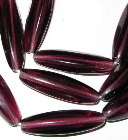 fine Czech Bohemian translucent purple glass beads