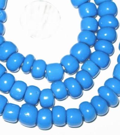 fine vintage Czech Bohemian blue glass beads