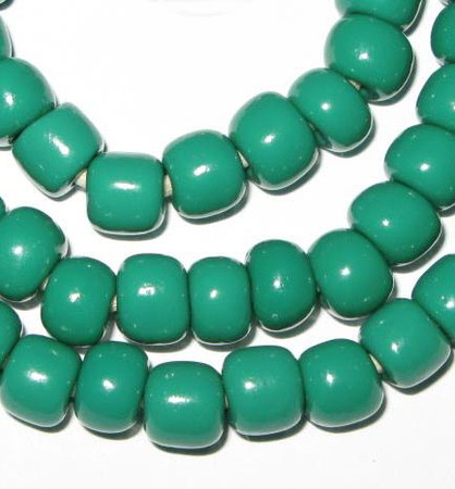 fine vintage Czech Bohemian green glass beads