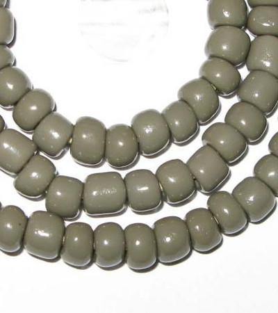 fine vintage Czech Bohemian grey glass beads